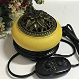QQAA Aroma Diffuser, Haushaltstemperatur Einstellbar Elektrischen Weihrauchbrenner, Keramik...
