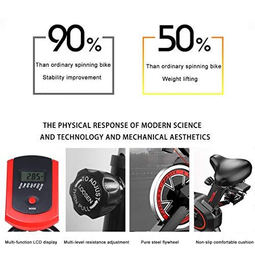 51qtnLKPrSL - Bicicleta Estática| Bicicleta de Interior ,6 Ajustes de Altura de Reposabrazos y Cojines,Magnetorresistencia ilimitada,Monitor LCD de Frecuencia Cardíaca, Entrenamientos cardiovasculares en casa.