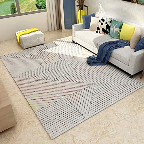 BYGenMai Tapis de Sol Motif géométrique Abstrait Morden Carpet Soft Rug,H,120x160CM