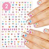 xo, Fetti Kids Nail Stickers - 408 Decals | Birthday Girl Party Favors, DIY Home Activity, Gift, Cute Nail Transfer, Princess, Girl Power