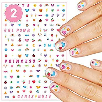 xo Fetti Kids Nail Stickers - 408 Decals   Birthday Girl Party Favors DIY Home Activity Gift Cute Nail Transfer Princess Girl Power