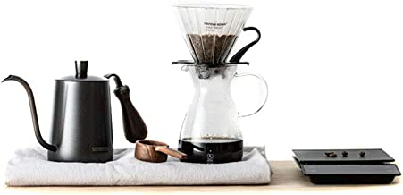 CAFEDEKONA Coffee Maker 6pcs Drip Filter Hand Coffee Pot Fine Mouth Pot Filter Cup Bean Spoon Filter Paper Electronic Scale Coffee Set