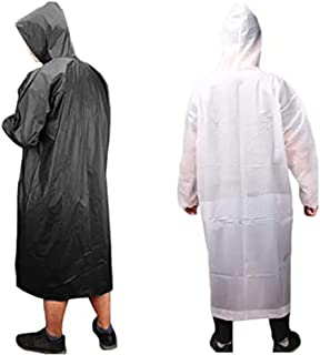 XTACER Unisex Multifunctional EVA Raincoats Sports Rain Coats Reusable Ponchos Rain Cape with Hood