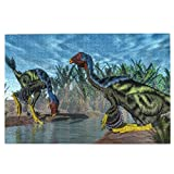 Jigsaw Puzzles 1000 Piece,Caudipteryx Dinosaurs,Puzzle Game for Adults Teens Kids Gift Home Decoration 29.5x20 Inches