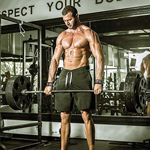 Authentisch RDX Training Gewichtheber Griffe Fitness Handgelenk Stütze Handgelenkbandage W1B - 7