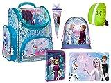 Disney Frozen II Eiskönigin 2 Schulranzen Set Zuckertüte Ranzen Federmappe Turnbeutel Tischunterlage Frozen Lizenz 6 Teile