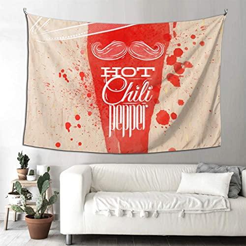 N\A Decoraciones de Cocina Arte de la Pared Red Hot Chili Pepper Buen Tapiz Arte de la Pared Decoración Dormitorio Arte Colgante de Pared Hogar para Sala de Estar Dormitorio