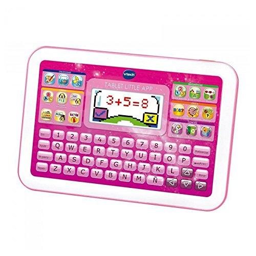 VTech -Little App Tableta educativa Infantil, Pantalla LCD a Color, Juguete para aprender en casa,Contenido Especial para niños, enseña destrezas matemáticas, lingüísticas, Creativas y cognitivas,Rosa