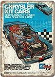Hslly Chrysler Kit Cars Model Racecar Vintage Blechschilder