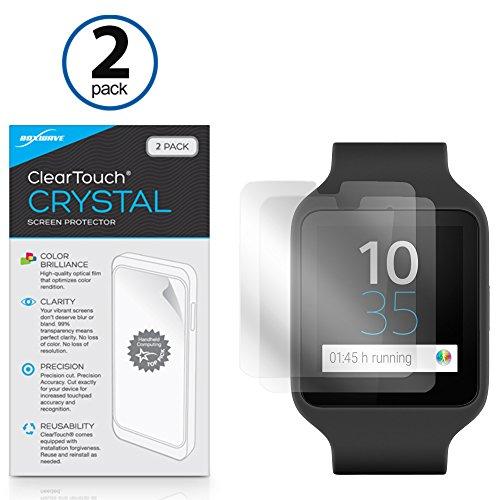 BoxWave ClearTouch Crystal Pellicola salvaschermo per Sony Smartwatch 3SWR50, 2 pezzi, pellicola HD di protezione, protegge da graffi