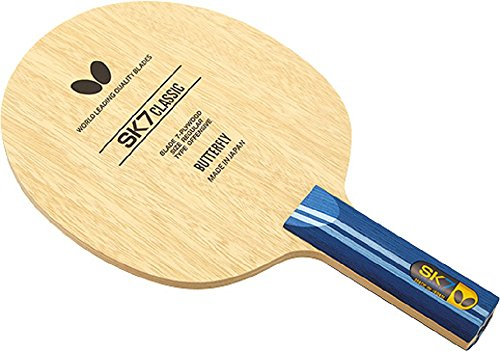 Best Bargain Butterfly SK7 Classic Blade Table Tennis Blade | 7-ply All-Wood Blade | SK7 Classic Blade | Professional Table Tennis Blade | FL, and ST Handle Type | Made in Japan
