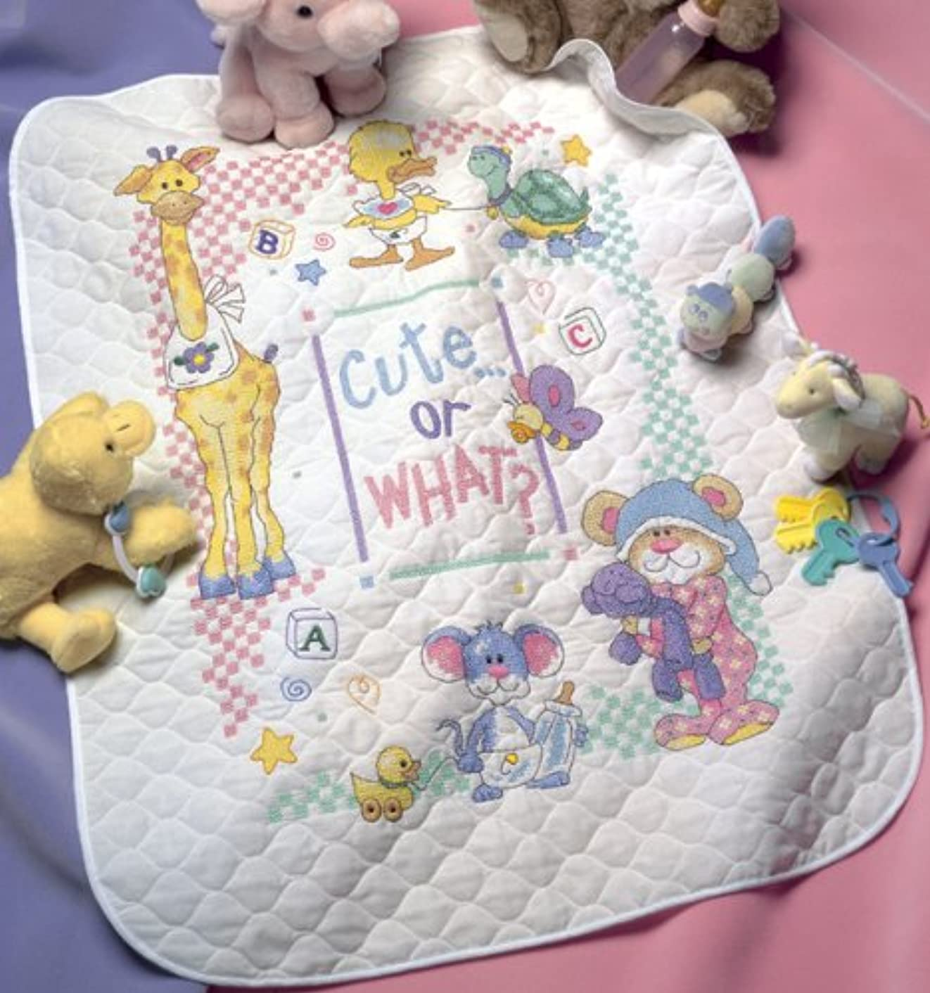 Dimensions Stamped X Stitch -quilt: Cute Or What?