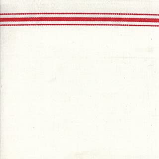 Moda Toweling Fabric Red and White 16