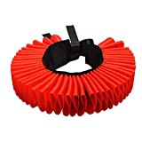 GRACEART Renaissance Neck Ruffle Elizabethan Ruffled Collar (Poppy Red)
