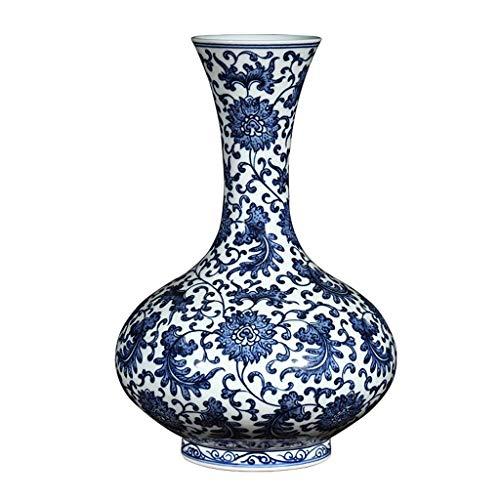 N Vase Couchtisch Vase Keramik Handbemalte Antike blaue und weiße Porzellan-Vase Dekoration Blumenschmuck im chinesischen Stil Wohnzimmer Haus Weinklimaschrank Dekoration Vasen Dekorationen lalay