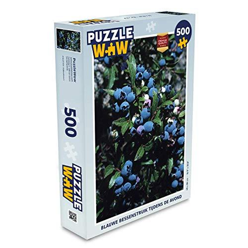 Puzzel 500 stukjes Blauwe bessenstruik - Blauwe bessenstruik tijdens de avond puzzel 500 stukjes - PuzzleWow heeft +100000 puzzels - legpuzzel voor volwassenen - Jigsaw puzzel 48x34 cm