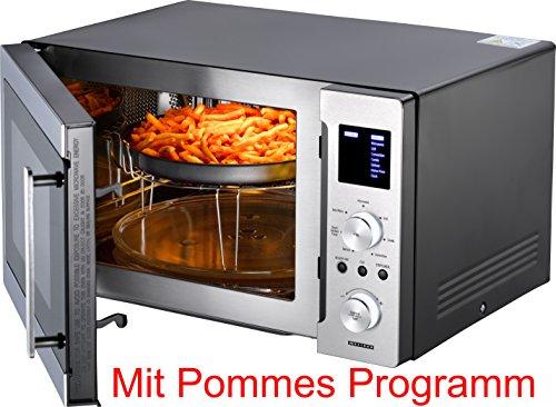Melissa 16330121 Elektronische Design 25 Liter Mikrowelle mit Grill, Konvektion und Pommes Programm