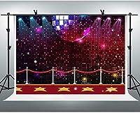 HD10x7ftダンスパーティーの背景カーニバルのお祝いの背景子供のためのハリウッドの夜の背景大人の写真撮影パーティーの壁紙BJLLFH167