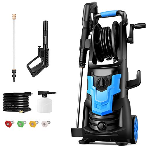 WHOLESUN 3600PSI Pressure Washer 2.6GPM 1900W Electric Power Washer with 4 Nozzles Best for Cleaning Homes, Cars, Driveways, Patios, Fences, Garden