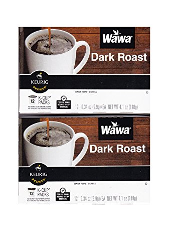 Wawa Dark Roast K cup packs pods 24 (2 packs of 12)