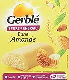Gerblé Sport et Énergie, Barres énergétiques aux amandes et germe de blé, Riches en glucides et en vitamine B1, 6 Emballages individuels, 150g, 204747