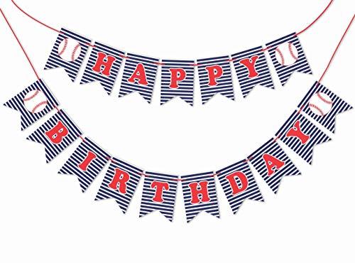 Inkdotpot Geburtstag Dekorationen Happy Birthday Party Girlande Baby Boy Baseball Wimpel Banner Flagge