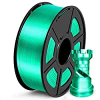 PLAフィラメントシルク1kg緑色シルクテクスチャ直径1.75mmの耐性0.02mm高靭性FDM 3Dプリンター印刷材料