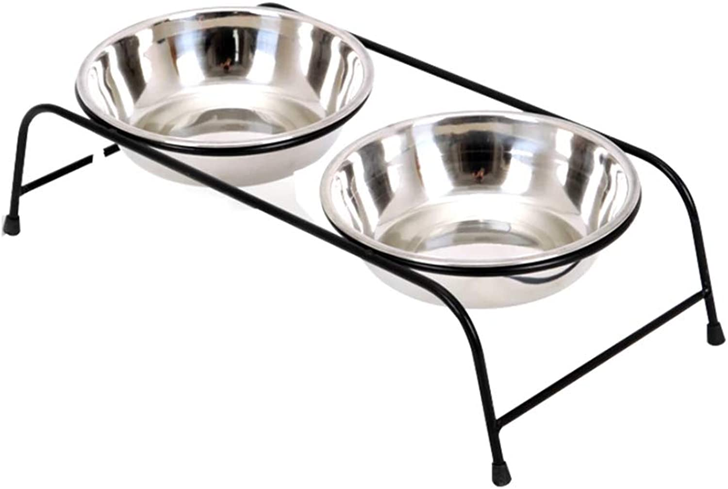 Dog Bowl Stainless Steel Bracket Ceramic Pet Supplies Cat and Dog Food Bowl Drinking Basin (Edition   LXZ01, Size   S)