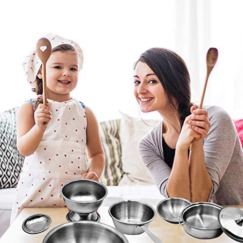 sympuk 17 Pcs/Set Simulación Infantil Cocina Cocina, Super Cocina De Acero Inoxidable Anti Caída, Juguete De Casa De Juegos para Niños, Conjunto De Rompecabezas