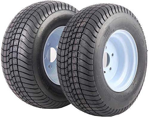 2 Pcs Trailer Tire & Rims 20.5 X 8 X 10 205/65-10 20.5/8-10 20.5/800-10 5 Lugs White