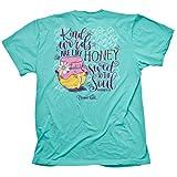 Blessed Girl Womens T-Shirt - Honey - Celadon - XX-Large