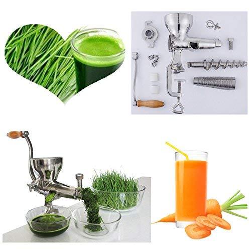 ZHAS Tragbarer Weizengras-Entsafter mit manuellem langsamem Entsafter