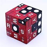 ULIN Cubo mágico de impresión UV 3x3x3 Blind Braille Combinación Digital Stereo Learning Speed Twist Puzzle Juguetes educativos para niños