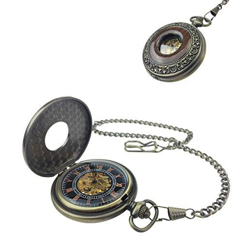 Reloj De Bolsillo tu73con Auténtica de relojes y larga cadena en acabado antiguo, Bisutería, de Kobert Goods