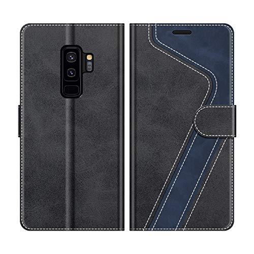 MOBESV Custodia Samsung Galaxy S9 Plus, Cover a Libro Samsung Galaxy S9 Plus, Custodia in Pelle Samsung Galaxy S9 Plus Magnetica Cover per Samsung Galaxy S9 Plus, Elegante Nero