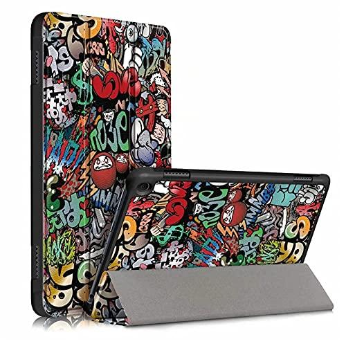 para Amazon Kindle Fire HD 8 Caso 2020 Fondo de Cubierta magnética Plegable de Cuero PU para Kindle HD8 Plus 2020 Tablet-Pintada