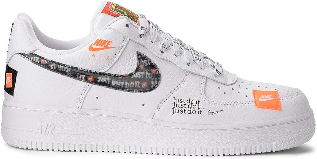 Nike Men's Air Force 1 '07 PRM JDI Fitness Shoes, Orange : Amazon ...