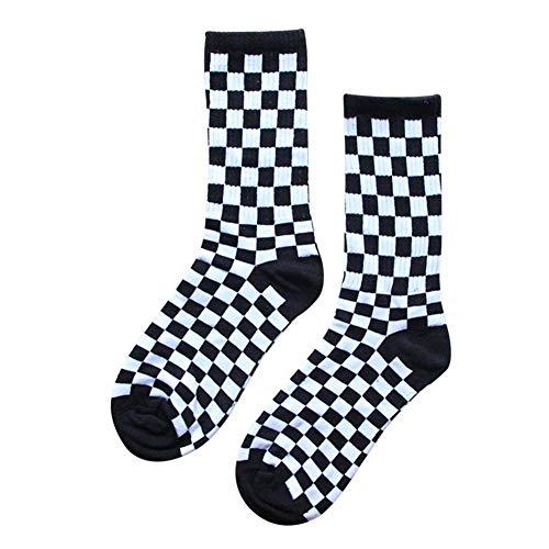 Seasons Shop Plaid Socken Ankle Tartan Socken Personalisierte Hip Hop Socken Schwarz Und Weiß Baumwolle Sportstrümpfe Für Männer Und Frauen Excitement