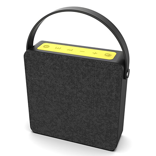 PUNKBOX Portable Wireless Bluetooth Speaker, Loud & Powerful Dual HD Speakers W/Enhanced Bass, AUX Input, Rechargeable Hands Free Speakerphone W/Noise Cancellation Mic for iPhone/Android [Black]