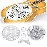 Bnineteenteam Pieza de Repuesto de Conjunto Completo de Guitarra Dobro Resonator, Pieza de Repuesto de Guitarra Resonator de Conjunto 6 en 1