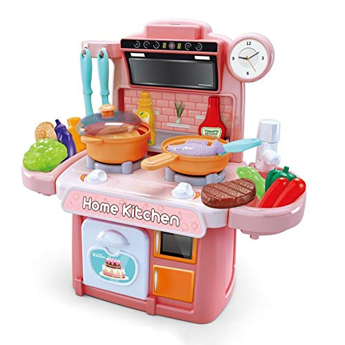 HSCW Niños Cocina Juguetes Simulación Vajilla Juguetes Educativos Mini Cocina Comida Pretend Play Play Playing Girls Toys COCAL DE COCALLOS PUTS Y PANTILLAS SET MEJOR REGALO PARA NIÑOS 0-12