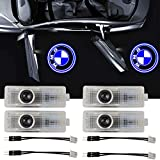 YIDEXIN For BMW Car Door LED Logo Lights, For BMW 3D Ghost Shadow Light Wireless Welcome Courtesy Projector Light Fit for BMW X1/X3/X4/X5/X6/3/4/5/6/7/Z/GT(4PCS)