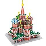 CubicFun Puzzle 3D Russia St. Basils Cathedral Rompecabezas 3D Arquitectura Modelo Kits de Construcción, 92 Piezas