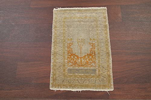 100% Silk New sales Traditional Haj Jalili Hand-Knotted Rug Area Oriental Max 90% OFF
