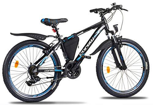 Kinder-Fahrrad Jungen-Fahrrad M/ädchen Corelli Desert Mountain-Bike 29 Zoll 27,5 Zoll 26 Zoll 24 Zoll 20 Zoll mit Aluminium-Rahmen Shimano 21 Gang-Schaltung /& Gabelfederung als Herren-Fahrrad Damen