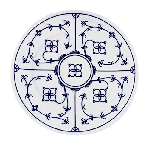 Eschenbach Porzellan Group Tallin Indischblau Teller flach Coup 24 cm, Porzellan, 1 x 1 x 1 cm