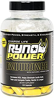 Ryno Power Endurance Capsules - Workout Harder and Longer - Reduce Lactic Acid Build-Up and Deliver More Oxygen to Your Muscles