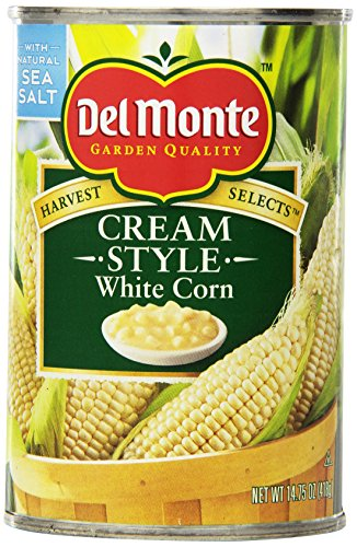 Del Monte Vegetable White Cream Corn, 14.75-Ounce Packages (Pack of 12)