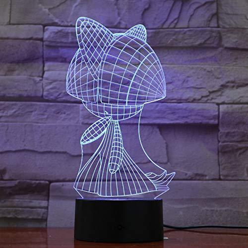 Luz de Noche para niños Sensor táctil Color cambiante Ambiente de Dormitorio lámpara de Mesa de acrílico Junto a la Cama