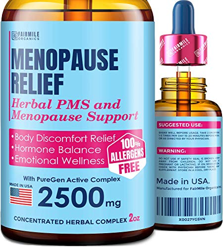 Menopause & PMS Relief with Black Cohosh for Hot Flashes - Supports Healthy Weight Loss - Provides Hormone Balance for Women - Made in USA - 100% Natural and Liquid for Best Absorption - 2 fl oz
